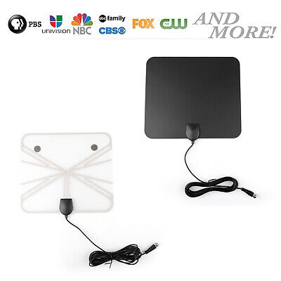 Ultra Thin Flat Indoor HDTV Amplified TV Signal Antenna 1080 HD 200 Mile USA