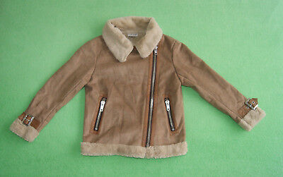 Next brown jacket with no real fur for girl age 7 years 122cm