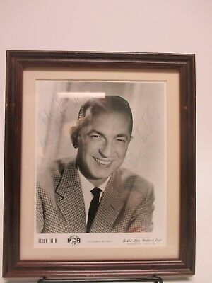 "SIGNED Percy Faith 8x10"" Photo AUTOGRAPHED Framed Picture -Pop Music Bandleader"