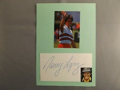 Hand Signed Golf Autograph - Nancy Lopez - Laid To Backing Card