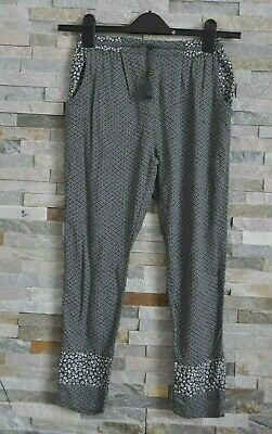 Next Girls Light Floral Printed Grey Trousers Age 10 Years Viscose