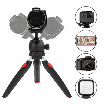 Andoer Mini Tabletop Ball Head Tripod Portable for DSLR Camera LED Video Light