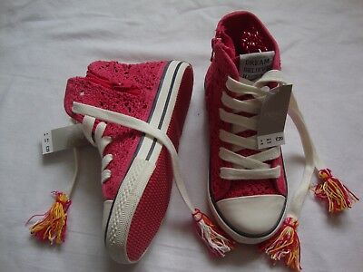 NEXT lace high top trainers for a girl size 9 RRP £20 (new with tags)