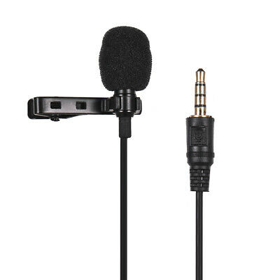 Mini Tie Lapel Clip-on Wired Microphone Mic 3.5mm Plug for Smartphone PC G2M4