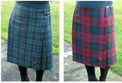 f6c31e992 Ladies Long Authentic Shetland Wool Kilt In Various Tartan - MADE IN  SCOTLAND