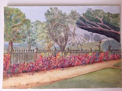 WATERCOLOUR, LATE 19th or EARLY 20th Century, formal garden and parkland