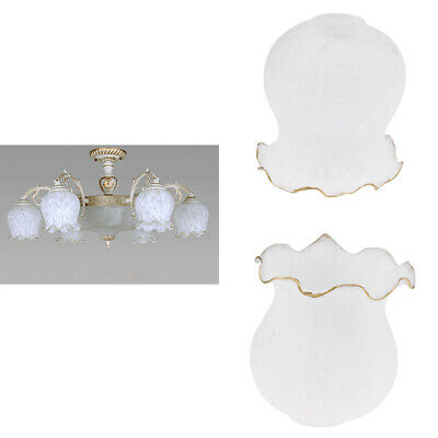 2pc Glass Hanging Light Lampshade Bedside Lamp Light Shade for Bedroom
