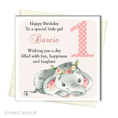 1st Birthday Card First Daughter Granddaughter Babies Cards
