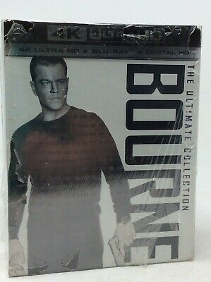 The Bourne Ultimate Collection [New 4K UHD Blu-ray] Boxed Set - 5 Movies *read*