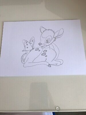 Disney Bambi Drawing Sketch Original artwork