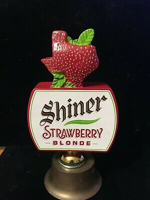 Shiner BEER TAP PULLHANDLE KEGORATOR MAN CAVE Strawberry Blonde TEXAS MADE