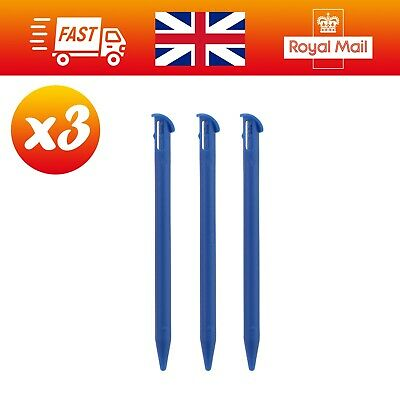 """3x Blue Plastic Stylus Drawing Writing Pens for Nintendo """"NEW"""" 3DS XL"""