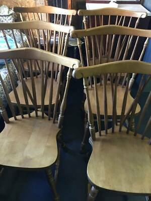 Set of 6 Cochran Bay Colony Bow Braced Windsor Dining Chairs