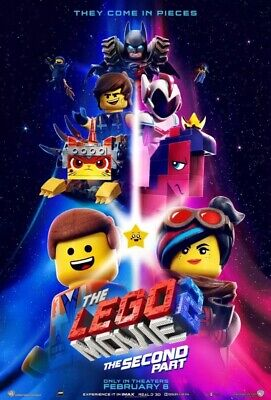 LEGO MOVIE 2: SECOND PART Original Movie Poster 27x40 Double Sided