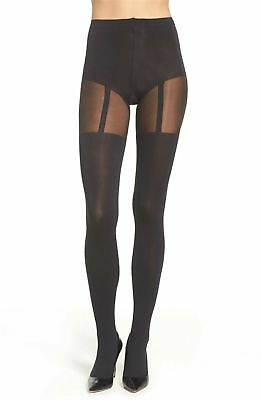 ec49aaad11b16 Pretty Polly Womens Suspender Tights Black One Size $25~New/Sealed Package