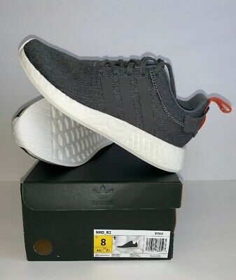 55e3c856d Adidas Originals Men s NMD R2 Shoes Sneaker BY3014 New Grey Gray (Size 8)