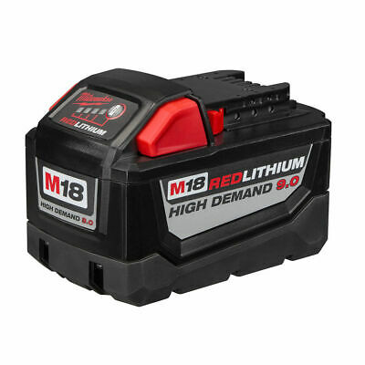 NEW MILWAUKEE M18 RED LITHIUM ION BATTERY PACK HD9.0 9.0Ah HIGH DEMAND