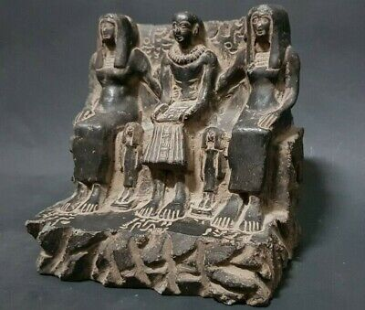 Rare ANCIENT EGYPTIAN ANTIQUES Priest Ptahmai Family EGYPT Hand Carved Stone BC