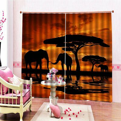 DZ3006 3D Elephant Digital Printing Waterproof Mildew Shower Curtaiu140*100 u1