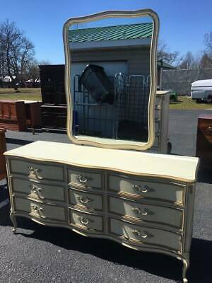 9 Drawer French Provincial Dresser w Mirror