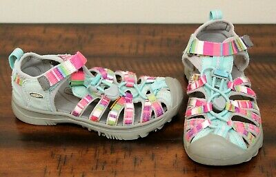 55f64a2106b2 KEEN Whisper PINK BLUE SANDALS sz 12 Girls Shoes Camping Hiking Boating  Water