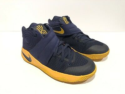 aa48fd12ce38 Nike Kyrie 2 GS Mid Navy University Gold Basketball Shoes Sz 6Y  826673-447