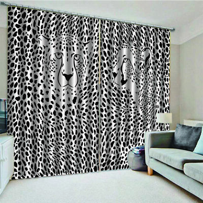 Leopard Leopard Curtain 140*100 Home Bedroom Curtain Hotel Decorative Curtain u1