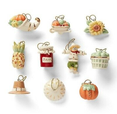 Set of 10 AUTUMN Favorites Ornaments ~ New Item from Lenox  NEW IN BOX