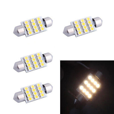 10pcs Festoon 35mm 150LM 12 3528 SMD Warm White LED For Car Reading Door Lamp