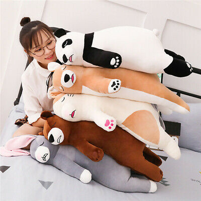 45/75cm Big simulation Lying Plush Toys Stuffed Animal Sleeping Pillow Doll Gift