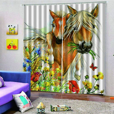Mother And Child Horse Curtain 140*100 Home Bedroom Hotel Decorative Curtain u1
