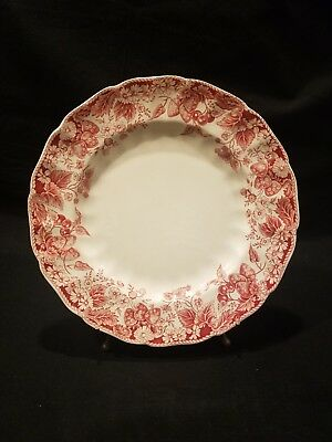 "Vintage JOHNSON BROs STRAWBERRY FAIR PINK 10"" DINNER PLATE(S) Multi Avail EUC"