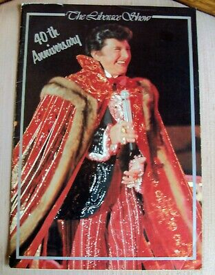The Liberace Show 40th Anniversary Autographed Inside Cover Catte Adams debut