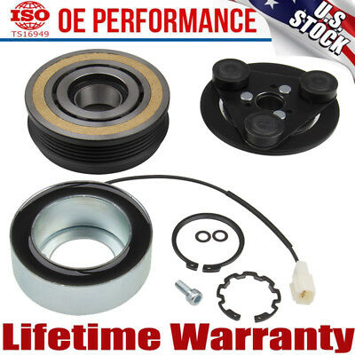 A/C Compressor Clutch Kit For MAZDA 3 5 04-09 Front Plate Bearing Coil Pulley US