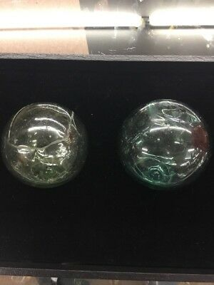 2 Glass Glass Floats, No Markings