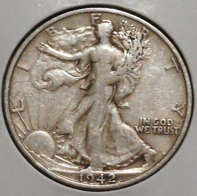 Walking Liberty Half - 1942-S - Overstock Sale! - $1 Unlimited Shipping-072