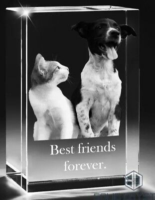 Personalised 3D Glass Photo Block, Ideal Gift