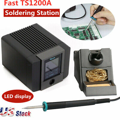 120W 110V FAST TS1200A LCD Touch Soldering Digital Display Soldering Station US