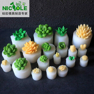 Silicone Mold Succulent Cacti Plant Soap Fondant Sugar Chocolate Decorating Tool