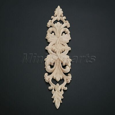 Vintage European Style Wood Carved Onlay Applique Frame Decal Furniture Decor