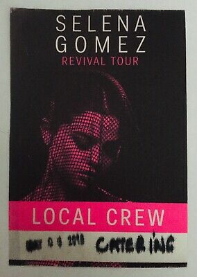 SELENA GOMEZ Revival 2016 concert tour backstage pass authentic USED Pink Pass