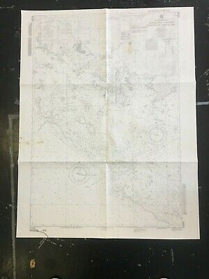 Vintage and collectible Chart and Map New Caledonia approaches to NOUMEA 82689