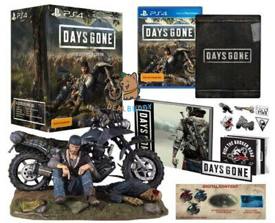 Days Gone Collector's Edition Sony Playstation 4 PS4 Steelbook,Statue,Book, DLC