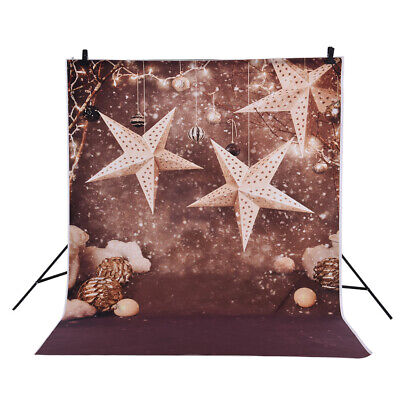 Andoer 1.5 * 2m Photography Background Backdrop Christmas Gift Star Pattern W1Q2