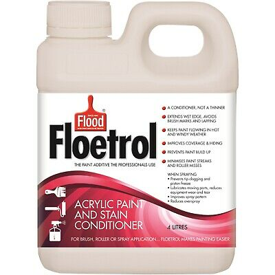 Floetrol ACRYLIC PAINT & STAIN CONDITIONER 4L - Makes Paint Flow