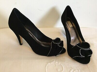 Black Suede Heels From Nude Footwear Myer Size 38 Paid $149