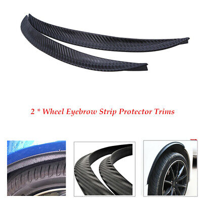 2PCS Car Wheel Eyebrow Arch Trim Fender Flares Protector Kit With Paste Film