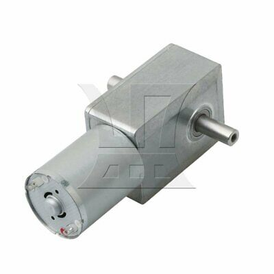Silver Metal 90RPM Turbo Worm Speed Reduction Geared DC6V Motor JGY370 for Grill