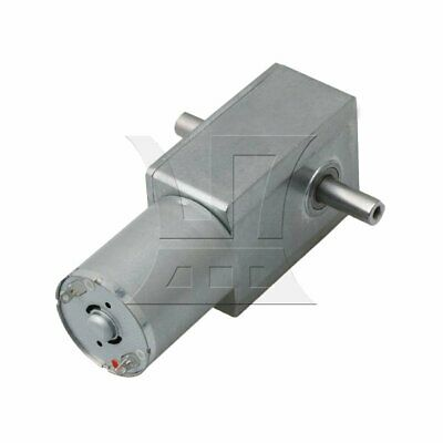 Silver Adjustable 18RPM High Torque Turbo Worm Reducer Geared DC12V Motor JGY370