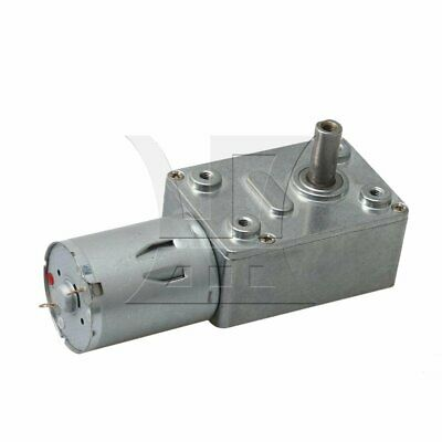 90RPM Torque Speed Reduction Worm Gear Motor 6mm Shaft Turbine Reducer 12V